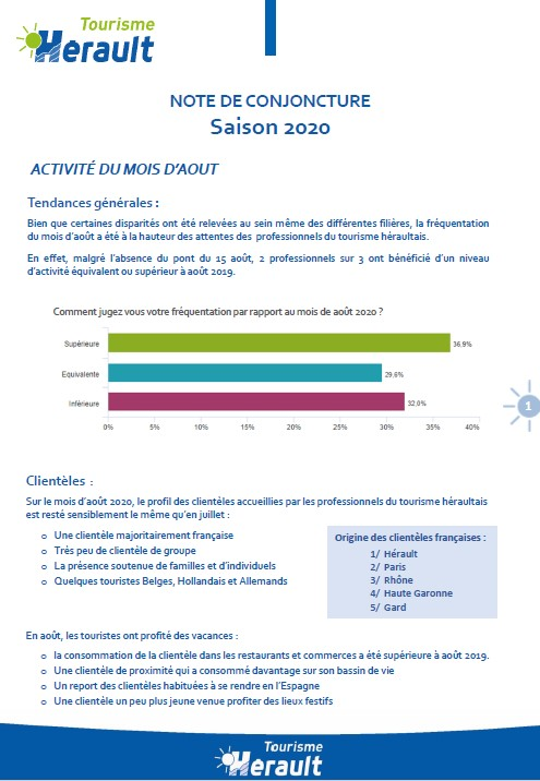 NOTE CONJONCTURE AOUT 2020 HERAULT